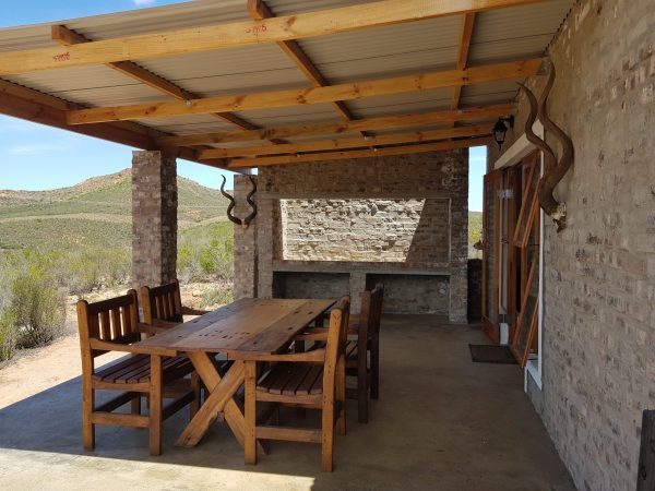 outside BBQ kudu chalet